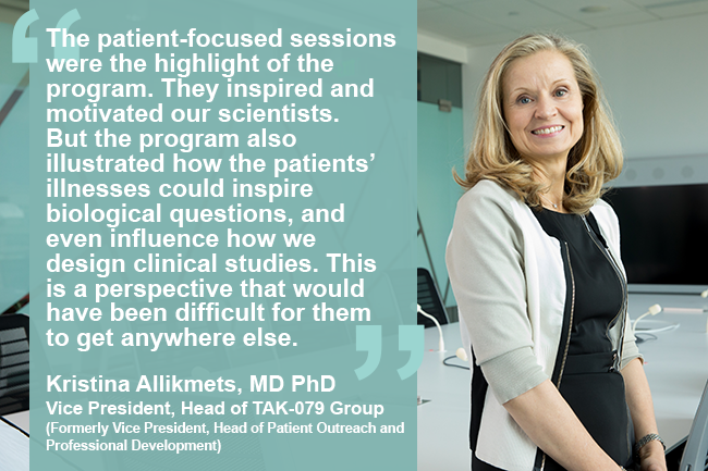 Kristina Allikmets, MD PhD, Vice President, Head of TAK-079 Group (Formerly Vice President, Head of Patient Outreach and Professional Development)